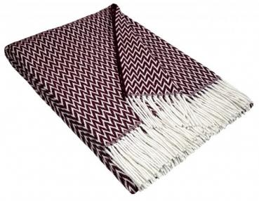 blanket | cotton bordeaux