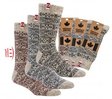 Canadian THERMO wool socks