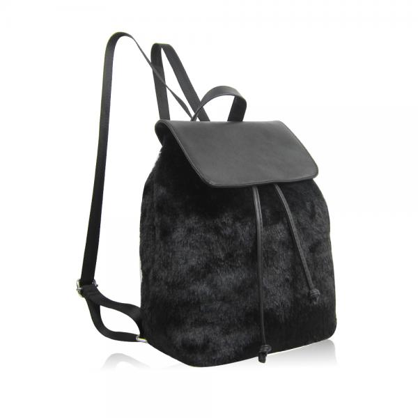 Funky Fur Backbag | schwarz